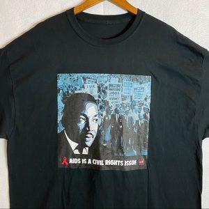 Martin Luther King Jr Black Tshirt size XXL
